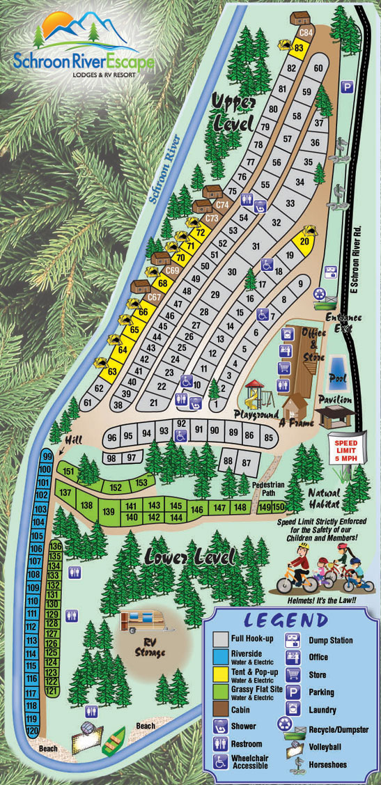 Schroon RV Map